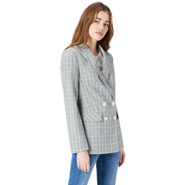 Femmes 3hxgmn Blazer Jacket Taille Check 38 44HAqTw