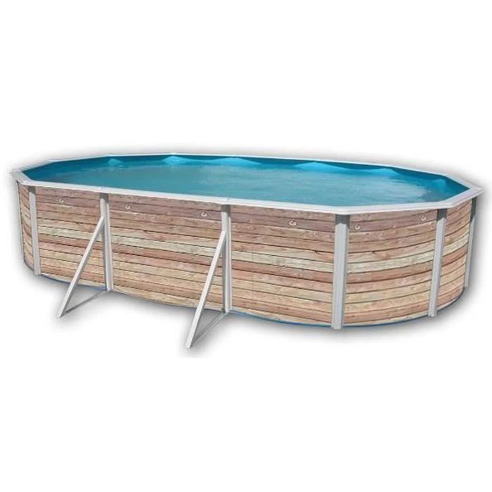 pinus piscine ovale en acier 640x366x120cm achat vente piscine piscine hors sol en acier. Black Bedroom Furniture Sets. Home Design Ideas