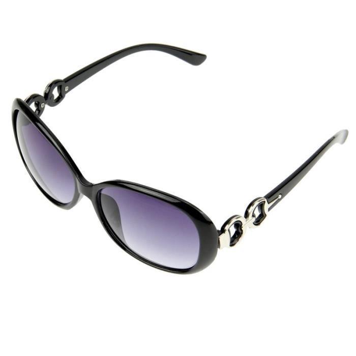 85d3e77a531b19 Lunettes pour femme Rétro UV400 Protection UV Frame PC AC Lens de soleil  noir
