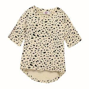 5170a97d207d2 ... ROBE Enfants Baby Girls Leopard impression à manches lo ...