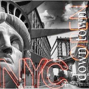 TABLEAU - TOILE TABLEAU DECO LED 30*30cm Statue de la liberté NYC