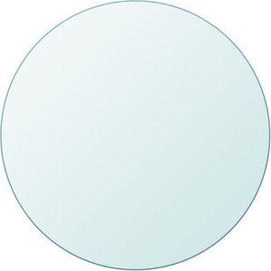 PLATEAU DE TABLE Plateaux de table  Dessus de table ronde en verre