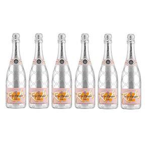CHAMPAGNE Lot de 6 Champagnes Veuve Clicquot Rich Rosé 75cL
