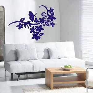 STICKERS stickers muraux autocollants d154 orchidee Miel 12
