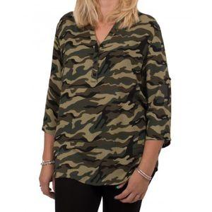 CHEMISIER - BLOUSE Blouse militaire femme grande taille motif camoufl