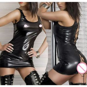 ENSEMBLE DE LINGERIE Sexy Femmes Lingerie érotique Latex Dress Catsuit