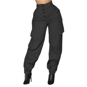 PANTALON pantalon Femmes Sarouel Taille Haute Élastique Tai ... 4c7e67a474c