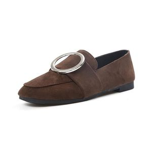 MOCASSIN Flats Ladies Comfy Boucle Suede Chaussures Slip-On