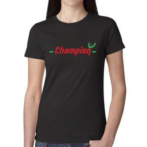 T-SHIRT Femme Unique Personnalisé Coton T shirt Champion 8