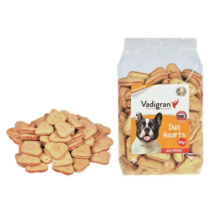 VADIGRAN Biscuits Duo Hearts - 500 g - Pour chiens