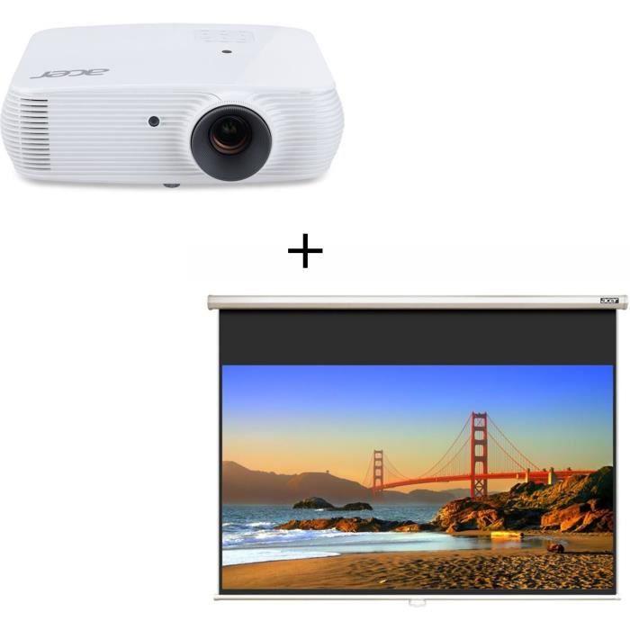 ACER H5382BD Vidéoprojecteur DLP 720p - 3 300 ANSI Lumens + ACER M90 Ecran de projection 16/9 - 90'' (229cm)