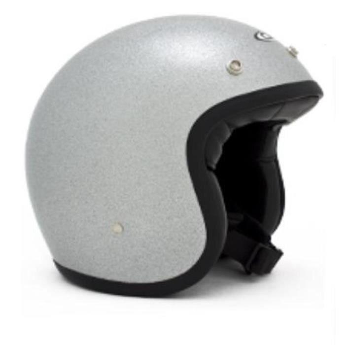 Casques moto casque moto DMD Vintage ARGENT GLITTER703 - Achat ... a2197842a3510