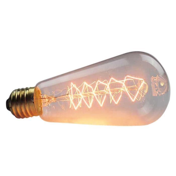 Edison Spirale Pendentif Retro 110v Decorative De Lampe St64 Ampoule Filaments Industriel 40w Tungstene filament A AqxAWpzrwP
