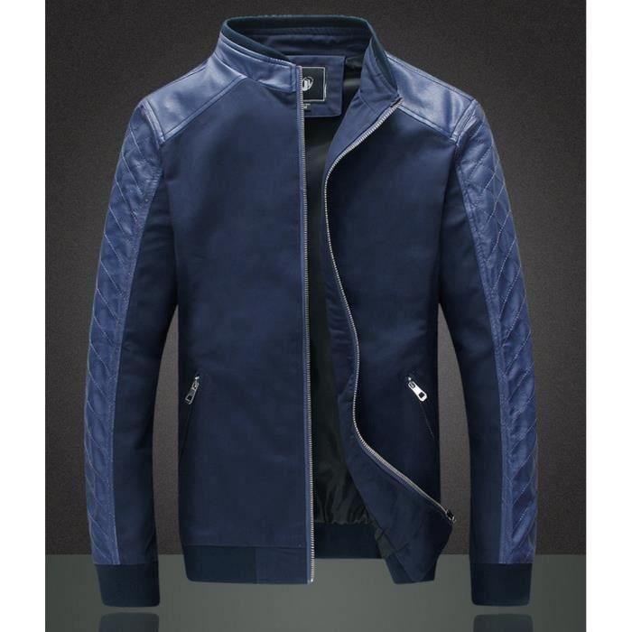 Achat Swag Veste Bleu Fashion Blouson Vente Pu Syn AHaXZaFn