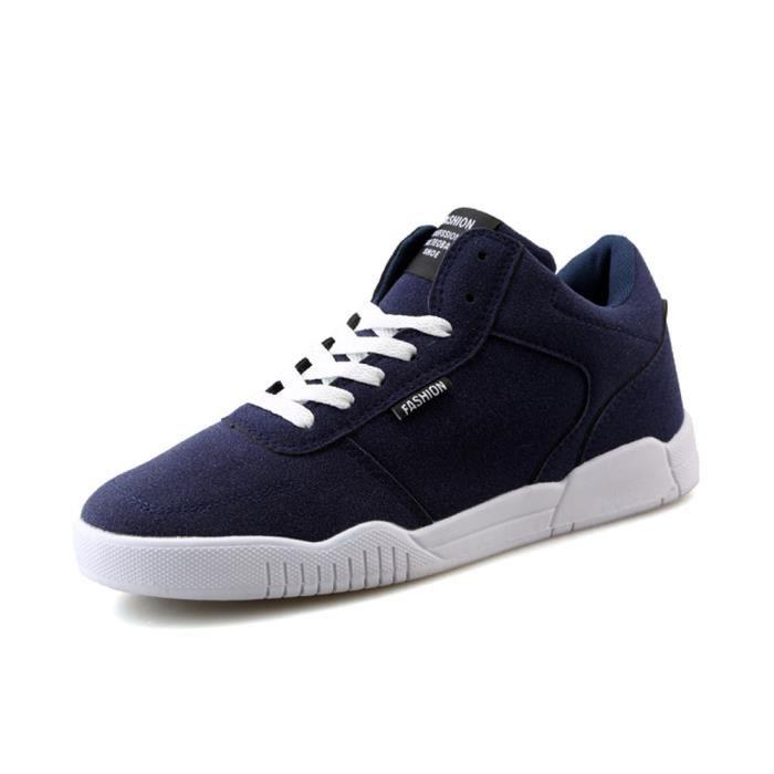 Chaussures hommes de plein air Respirant à la mode Sneakers de sport Skateboarding Confortable Durable Antidérapant Poids Léger Bleu Bleu - Achat / Vente basket  - Soldes* dès le 27 juin ! Cdiscount
