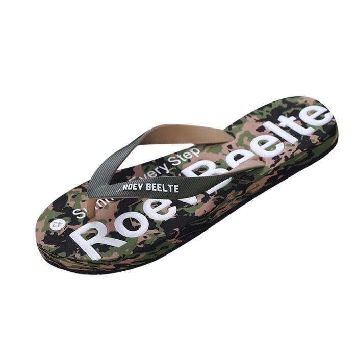 Les hommes d'été camouflage tongs chaussures sandales pantoufle intérieure et extérieure WMBt2