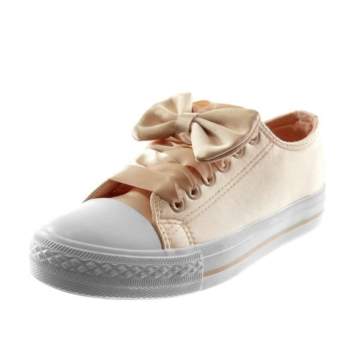 Angkorly Chaussure Mode Baskets Tennis Sporty chic femme