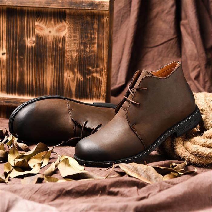 Résistantes Adulte Arrivee Homme Cusselen Cuir L'usure À Antidérapant Nouvelle Chaussure Bottine Cool qSGUMpzV