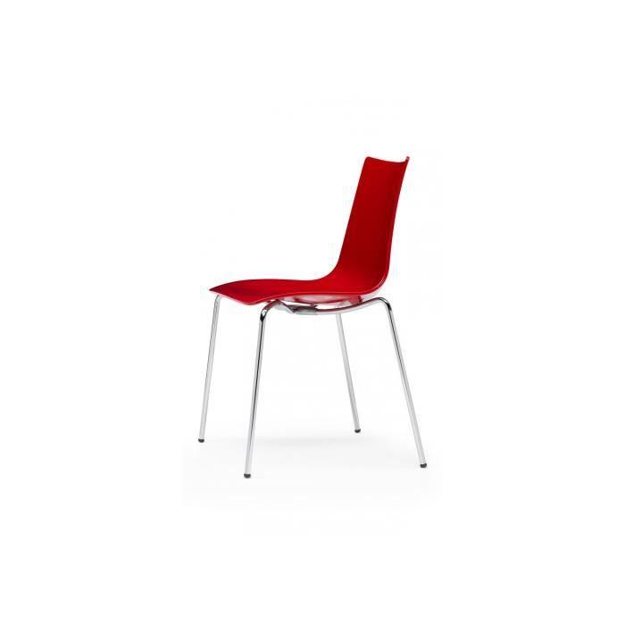 Chaise Design Zebra Par Scab Rouge