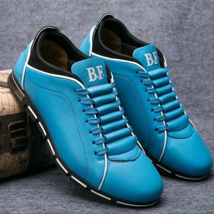 Marque New Style rétro style Chaussures hommes, de haute qualité homme Souliers simple, Derbies Casual Hommes,marron,45