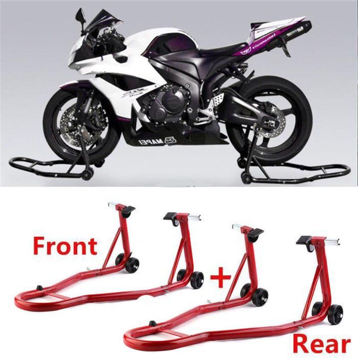 LÈVE-MOTO Support moto Roue arrière Pied de montage Support