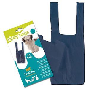 FERPLAST Sachets hygiéniques L270 en plastique 24x12cm pour pince Nippy - Bleu - Pour chien