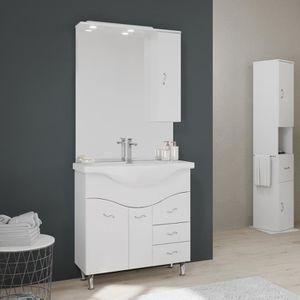 Petit meuble avec lavabo pour salle de bain Achat Vente pas cher