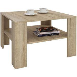 TABLE BASSE Table basse SEJOUR, table de salon de forme carrée