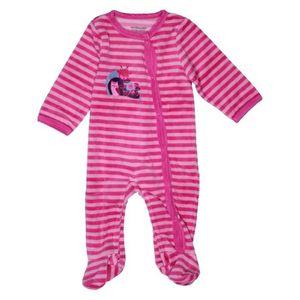 f0d1a624a20ef Pyjama 1 pièce bébé fille VERTBAUDET 3 mois rose hiver - vêtement bébé   1050136