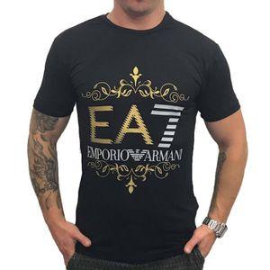 9ee8b5cbf7550 T-SHIRT T-shirt EA7 Emporio Armani 6XPT22 Noir Polyamide.