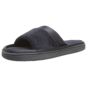 CHAUSSON - PANTOUFLE Women's Microterry Slide Slipper With Satin Trim 3