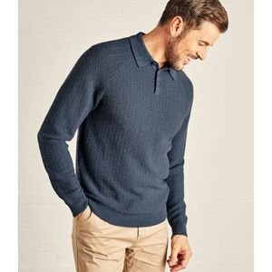 PULL WoolOvers Pull col polo à maille texturée Homme La ed89dedd3355