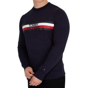 9ac45ba54cb56 SWEATSHIRT Tommy Hilfiger Homme Sweat-shirt à logo, Bleu