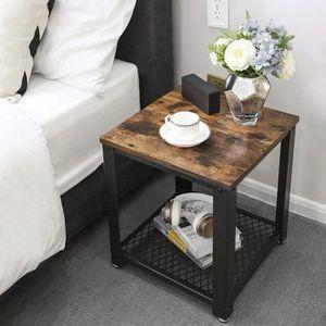 table de chevet style industriel achat vente pas cher. Black Bedroom Furniture Sets. Home Design Ideas
