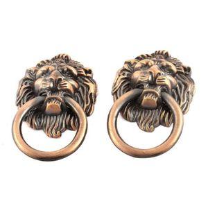 Meubles ton cuivre forme t te lion bouton porte poign e for Lions du meuble