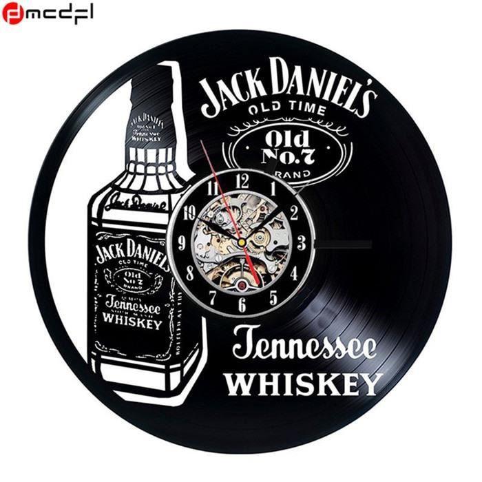 Horloge Jack 7 Bouteille Old – Murale DécoSalonChambre Vinyle Daniels NOn0XZPwk8