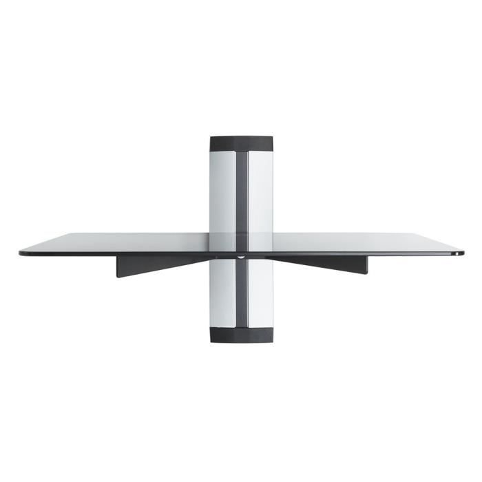 Support pour etagere en verre decodeur achat vente support pour etagere en verre decodeur - Etagere murale pour decodeur tv ...
