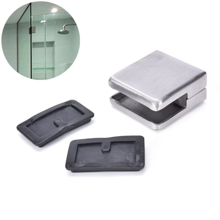 Equerre inox pince support pince pour tablette verre handrails6 8mm achat vente equerre - Support photo pince ...