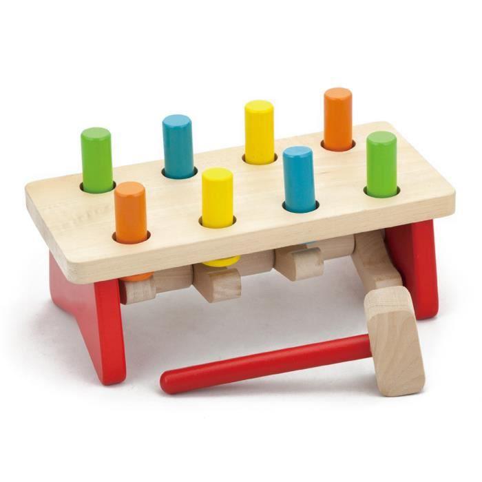 trieur de forme avec marteau en bois b b enfant 2ans multicolore achat vente bo te. Black Bedroom Furniture Sets. Home Design Ideas