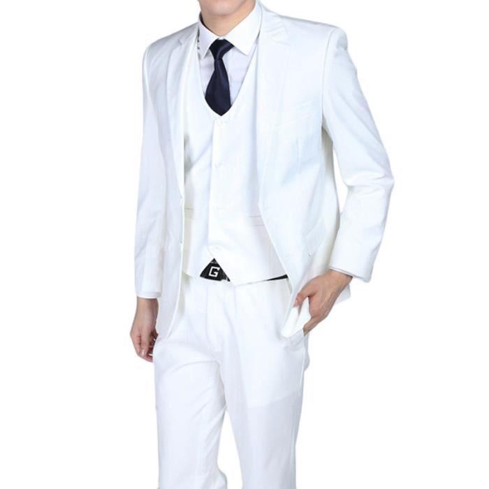 costume blanc homme deux boutons costumes de mariage pour les hommes d 39 affaires blanc achat. Black Bedroom Furniture Sets. Home Design Ideas