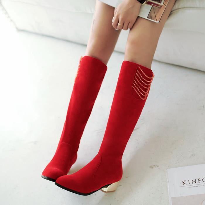 martin boots-Femmes Pure Couleur talonpais Fa...