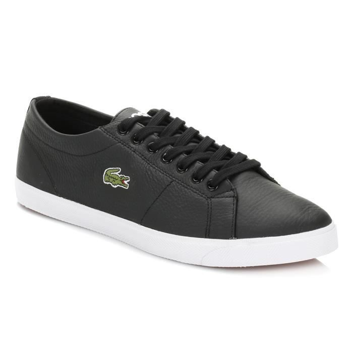 Lacoste Homme White Marcel LCR3 Cuir Baskets V7wpqqY