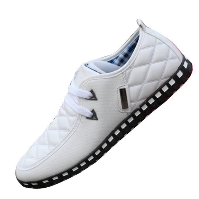 Chaussures Bateau Homme Mocassin à Lacets Souple Baskets Décontractés à Enfiler hpQUoV3m