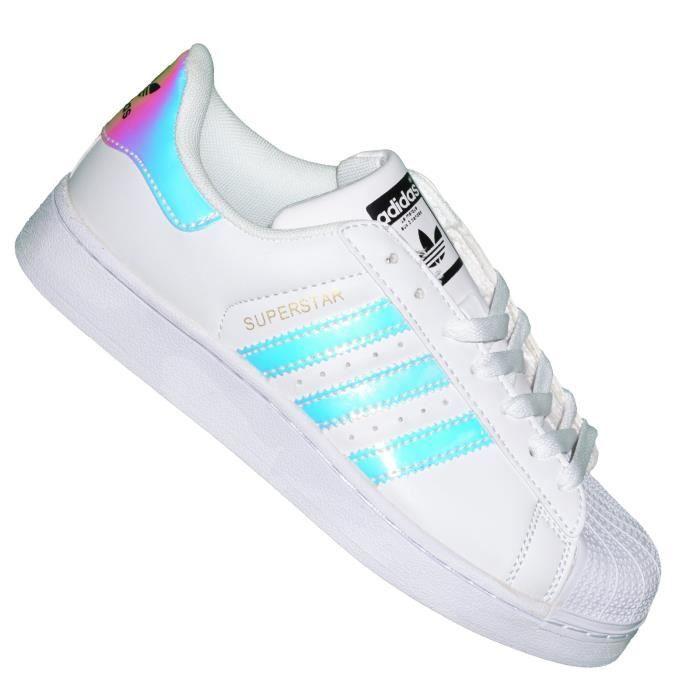 9df8ae8b2c8 Adidas Originals - Baskets - Superstar Foundation J Hologram Neon ...