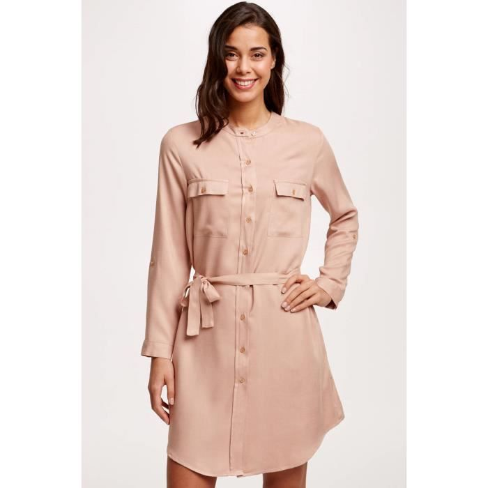 Robe Vente Chemise Fluide Cdiscount Beige Achat H92IED