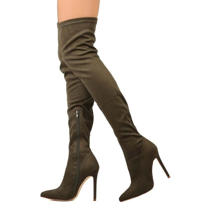 Pointy Toe Stiletto Over-the-knee Boots RODCE Taille-40