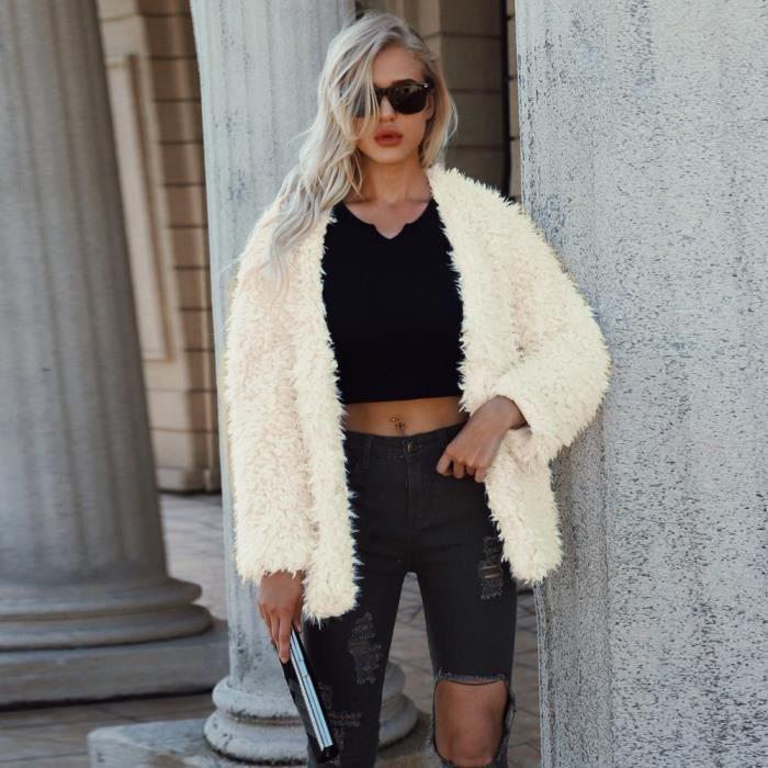 Coierbr Lady Vêtement Fourrure Chaud Court Bl4677 En Parka hiver Femmes Fausse Manteau 1vr5xq1w