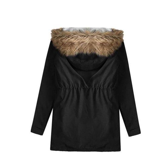 Vestes Fausse Femmes En Chaud À Parkas Paontry5541 Fourrure Manteaux Capuchon Avec rYYnT0q8W