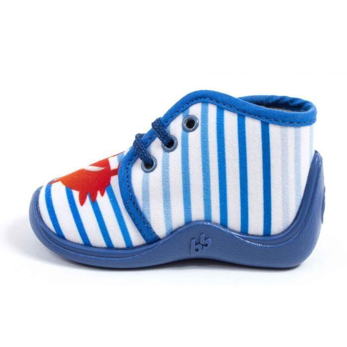 BabybotteChaussons Garçon bleu