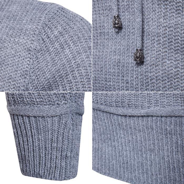 4a86aa52a45c gris Svelte Foncé noir Unie Pullover Mode Homme Loisir Couleur Clair gris  Vêtement cou Pull Café ...